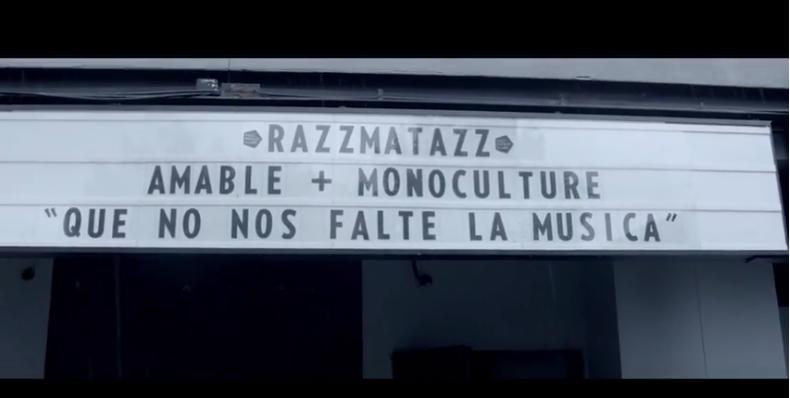 "AMABLE & MONOCULTURE ""Que no nos falte la música"" Videoclip"