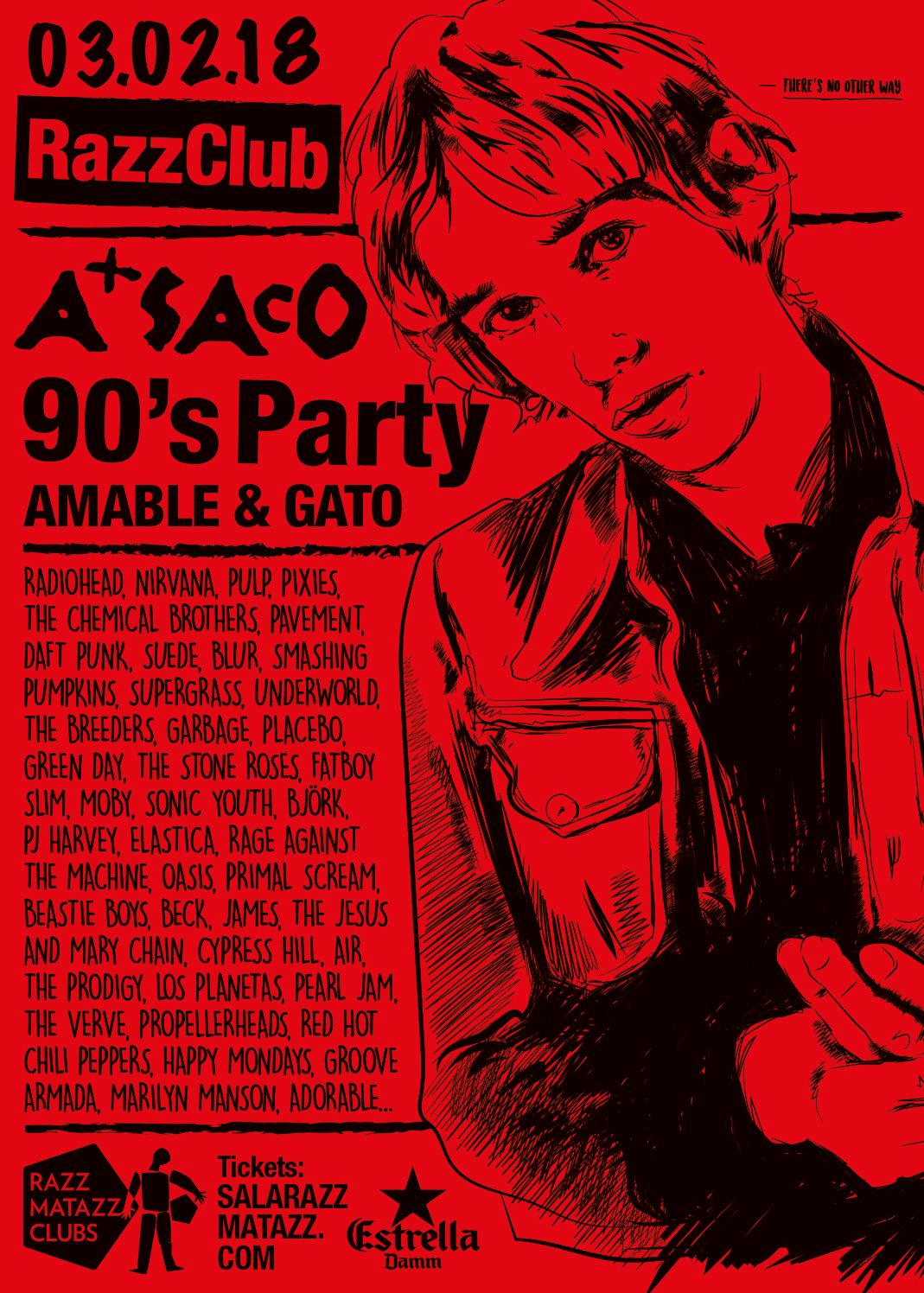 PLAYLIST A Saco 90's Party 03-02-2018